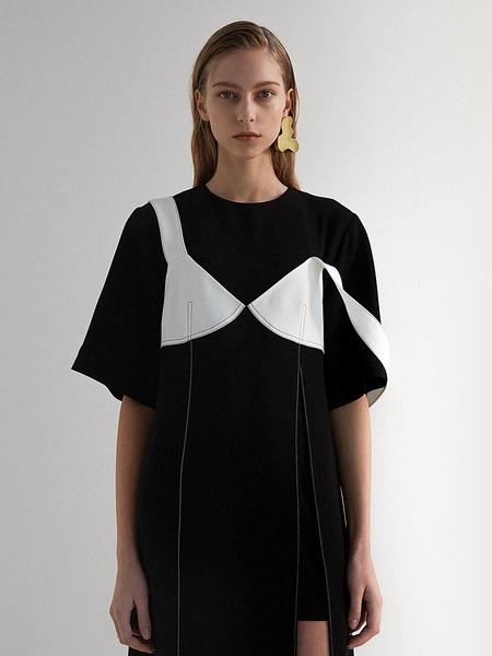 Moon Choi Short Sleeve Camisole Dress