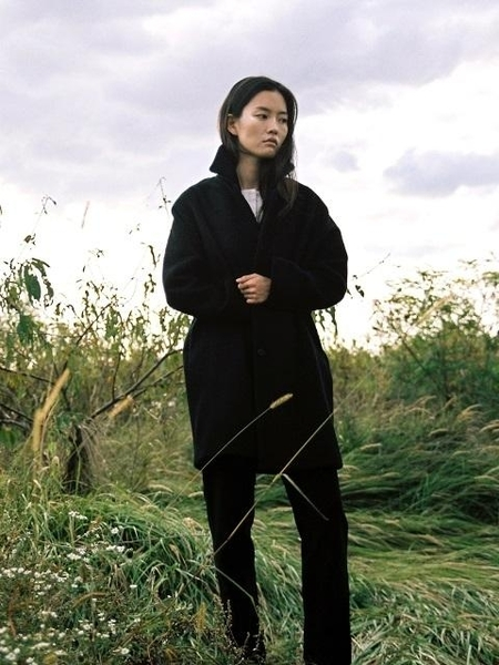 OSU Signature Wool Overcoat - Black