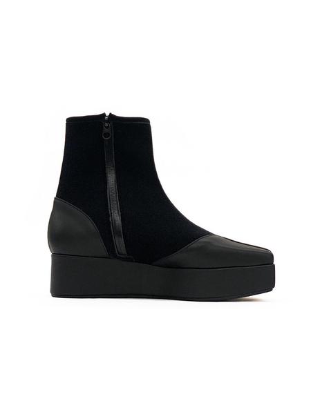 Flat Apartment Boots -  Black
