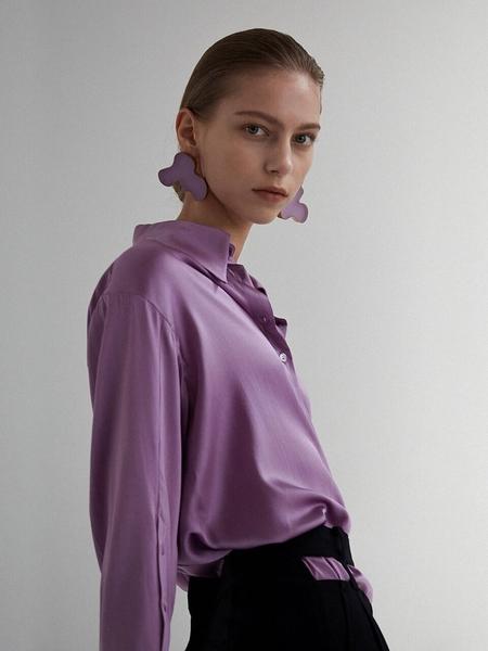 Moon Choi Oversized Satin Shirt