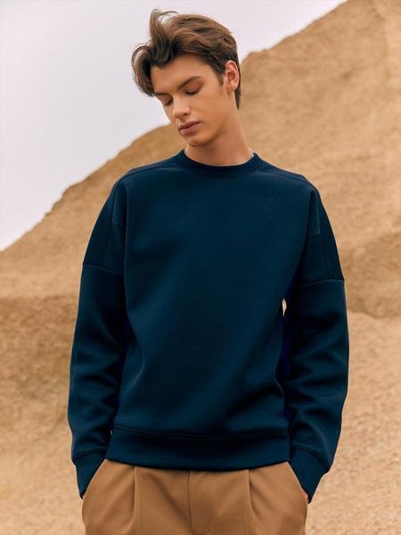 FRONTROW Structural Italian Jersey Sweatshirt - Navy