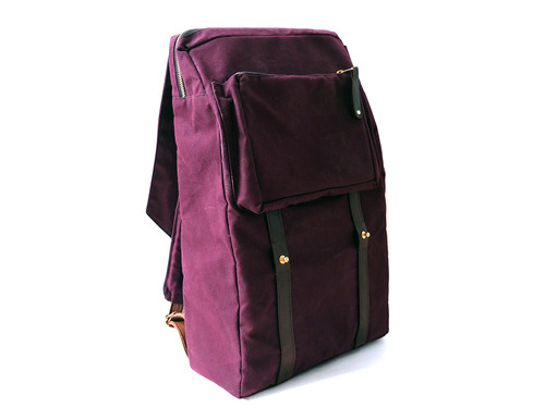 Woolfell Warrior Backpack Plum