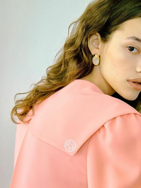 OIAUER Sailor Collar Blouse - Light Pink