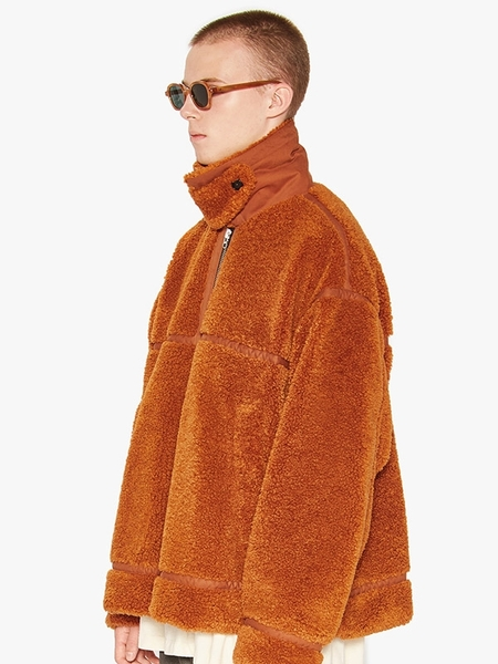 LIFUL MINIMAL GARMENTS. Collar Shepra Jacket - Orange