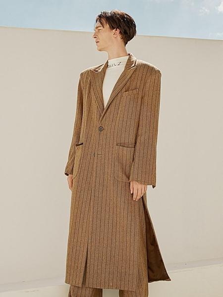Unisex HOLY NUMBER 7 Wool-Single Long Coat - Light Brown
