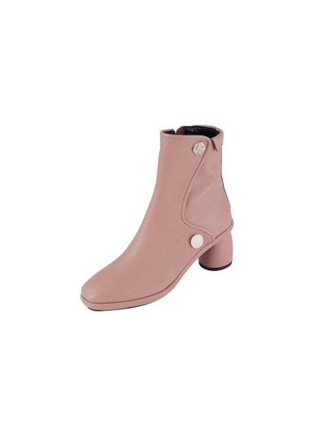 Reike Nen Curved Middle Ankle Boots - Mud Pink