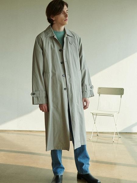 Anoutfit Overfit Maxi Balmaccan Coat - Grey