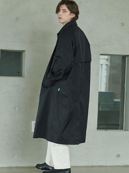 Anoutfit Overfit Maxi Balmaccan Coat - Black
