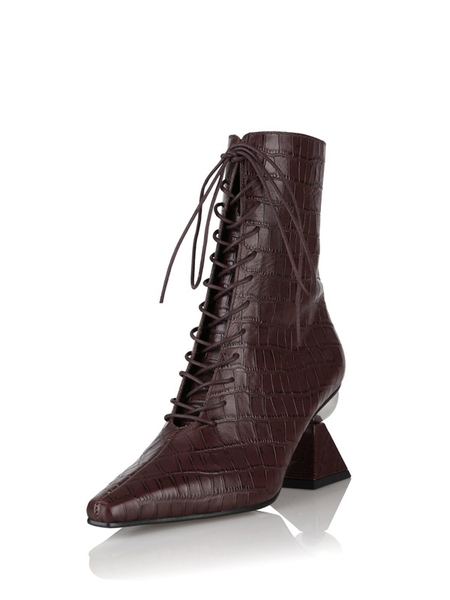 YUUL YIE Gloria Glam Heel Boots - Burgundy