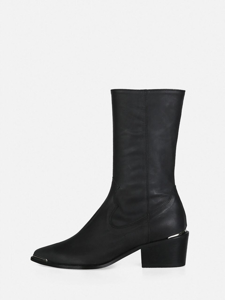 MENODEMOSSO Pointed Western Boots - Black