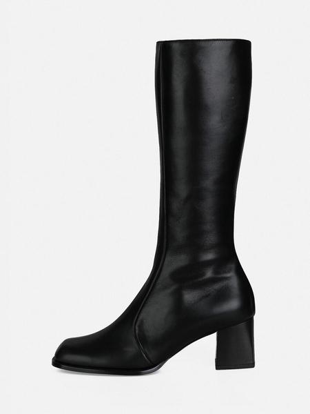 MENODEMOSSO Oblique Long Boots - Black