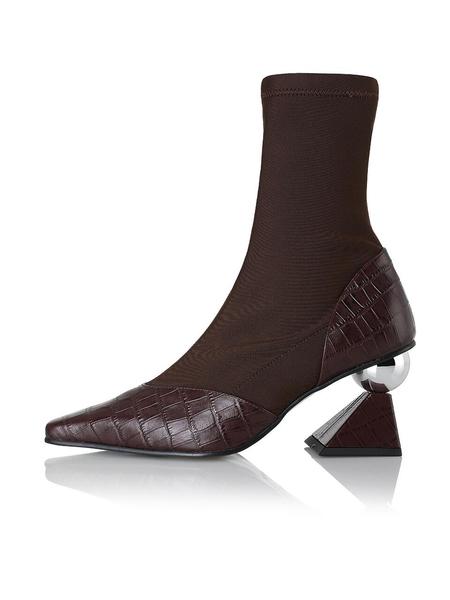 YUUL YIE Stella Sock Boots - Burgundy Croc