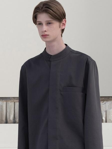 MOIA Mandarin Shirt - Deep Gray