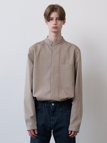 MOIA Mandarin Shirt - Beige