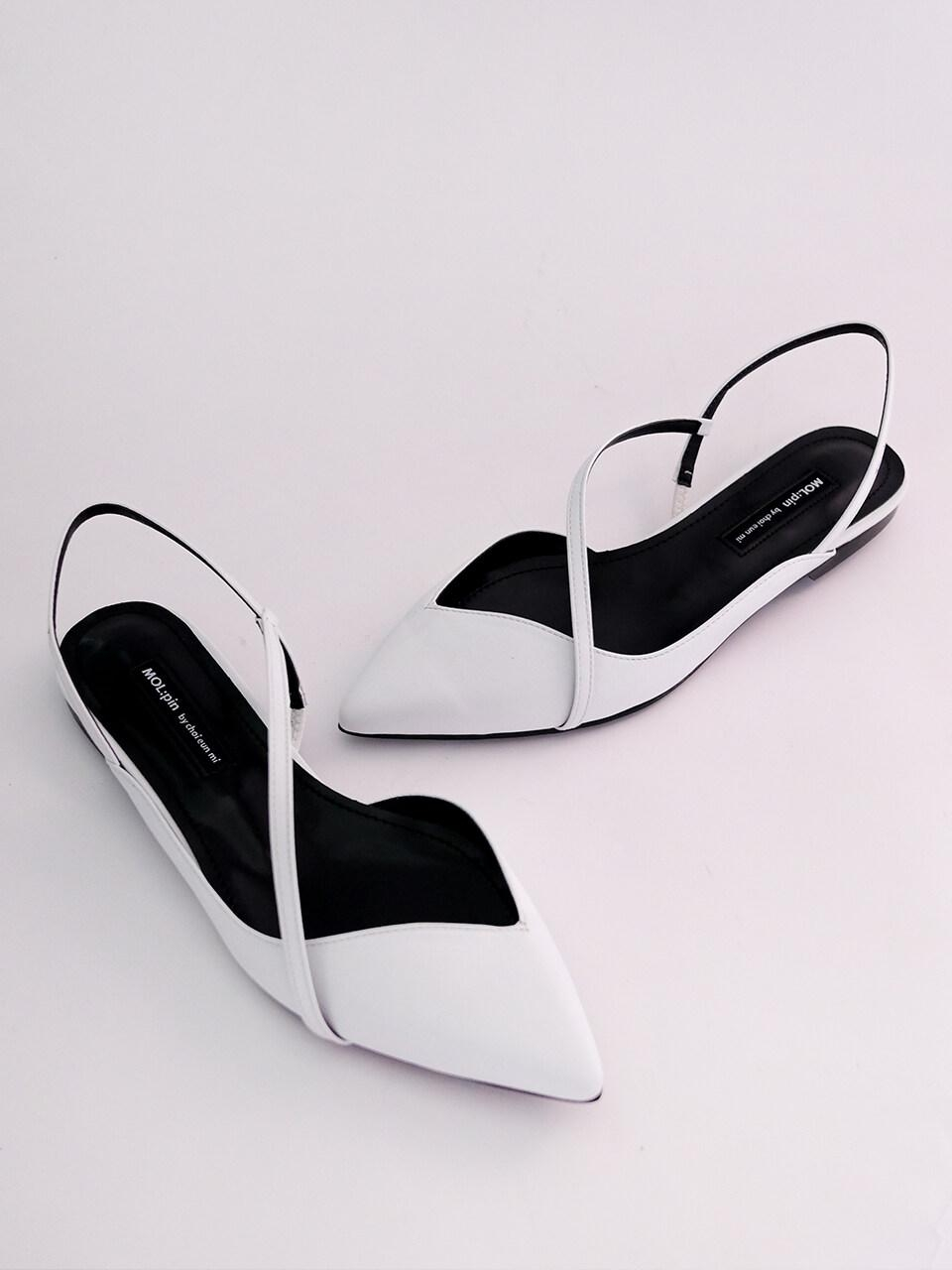 MOL:pin Slim Backless Flat Shoes