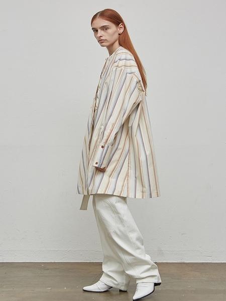 LOW CLASSIC Stripe Shirt Dress