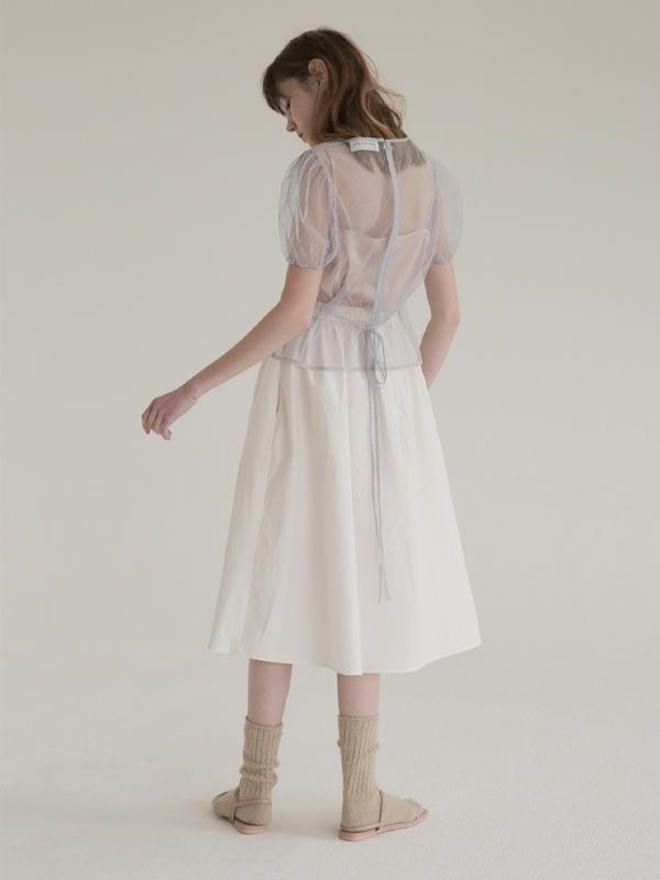 Soonsu Shine Flower Skirt - White