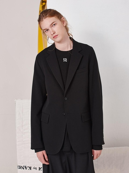 DBYDGNAK Two Button Single Jacket - Black