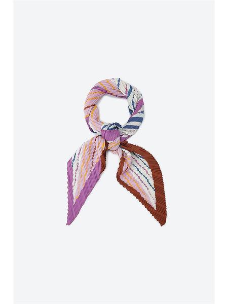 SJ SJ Color Line Pleats Scarf - Light Pink