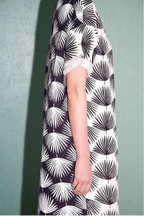 Sunja Link Palm print dress