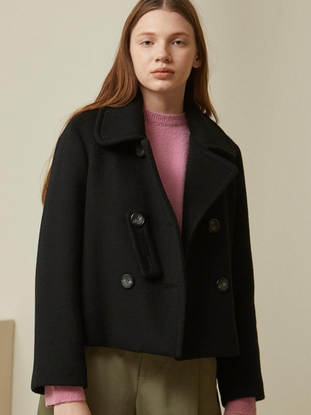 LOOKAST Short Wool Jacket - Black