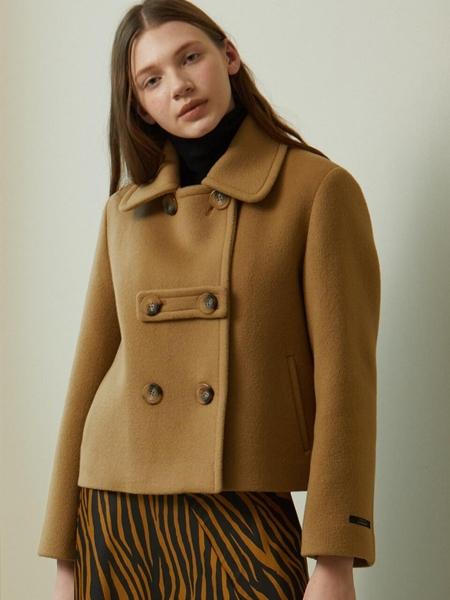 LOOKAST Short Wool Jacket - Beige