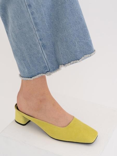 Dough Easy Square Mule - Yellow