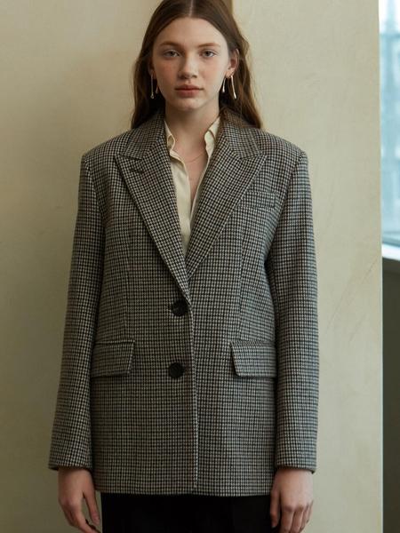 LOOKAST Single Wool Jacket - Brown Check