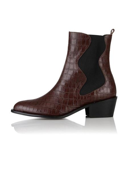 YUUL YIE Palette Boots - Burgundy Croc