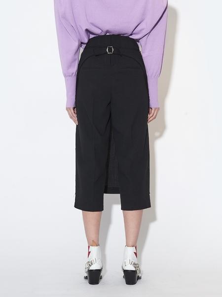 PUSHBUTTON Skirt Covered Half Shorts - Black