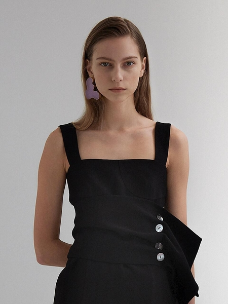 Moon Choi Bustier Cocoon Dress