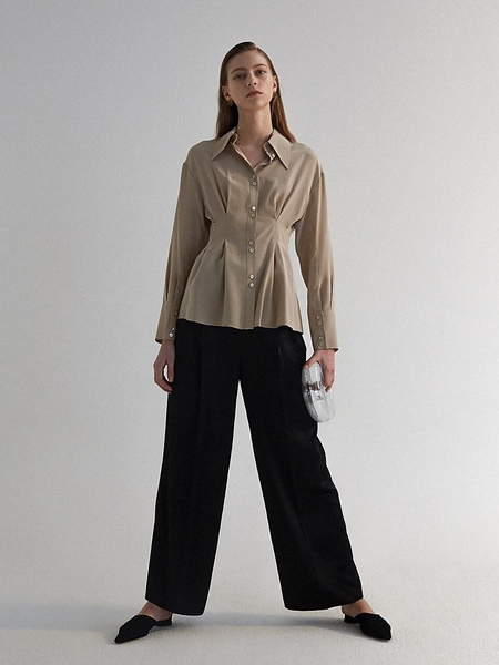 Moon Choi Belted Wide-Leg Trousers