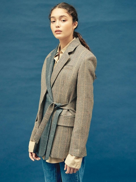 FRONTROW X Push Button Layered Collar Wool Jacket