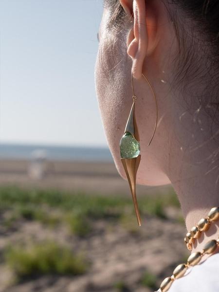1064STUDIO Deep In Glassland Earrings - Green