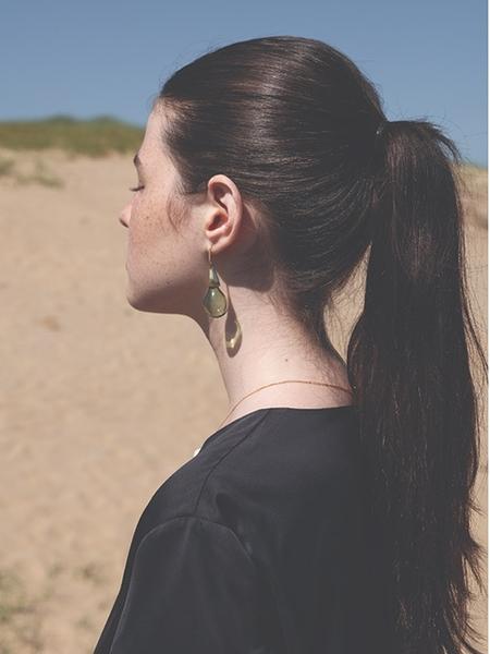 1064STUDIO Deep In Glassland Earrings - Olive