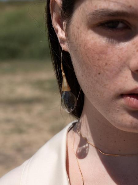 1064STUDIO Deep In Glassland Earrings - Gray
