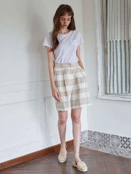 Studio.G Vyol Pants - Light Ivory Check