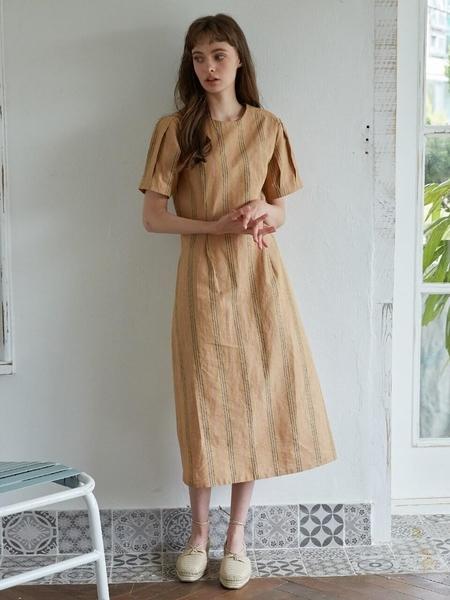 Studio.G Yony Dress - Camel Stripe