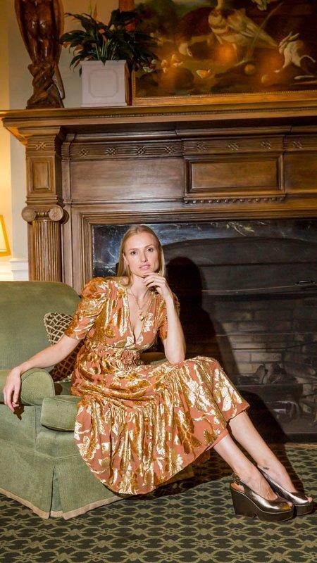 Ulla Johnson Loretta Dress - Rose Gold Velvet