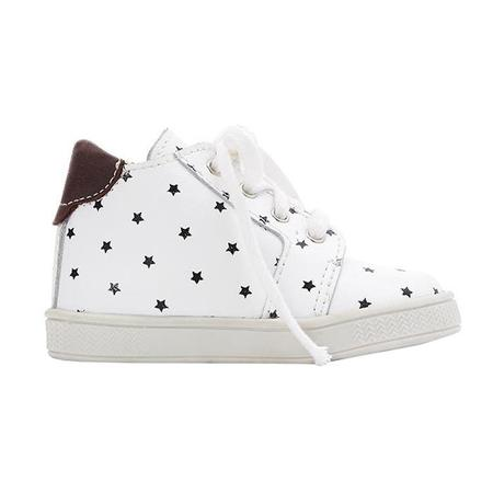 kids Bonton Leather Sneakers - Cream/Star Print