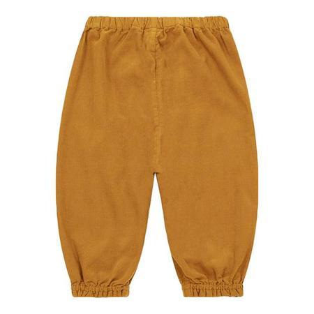 kids Bonton Baby Velour Pants - Amber Yellow