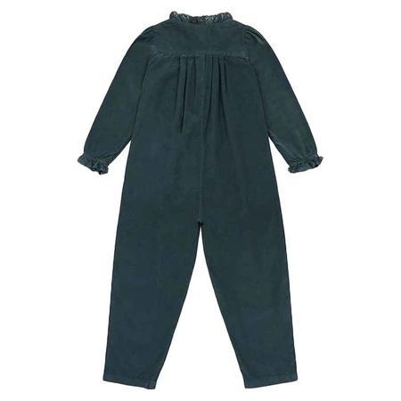 kids Bonton Soleil Velour Jumpsuit - Tarmac Grey
