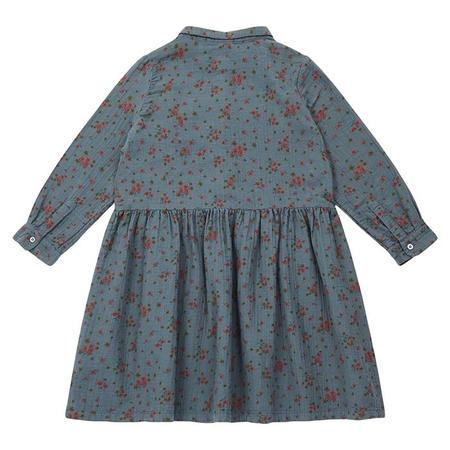 kids Bonton Sophie Dress With Pockets - Tarmac Grey/Floral Print