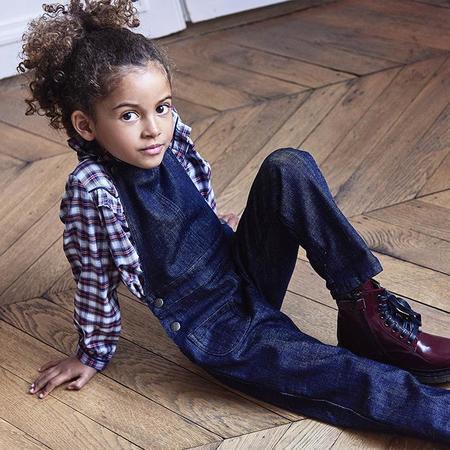 kids Bonton Spookie Overalls - Denim Blue