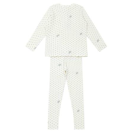 kids Bonton Tudor Pyjamas - Latte Cream/Blue Star Print