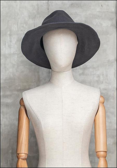 Claudia Schulz Lovisa Hand Formed Wool Wide Brim Fedora - gray