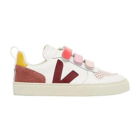 Kids Bonton x Veja Collab Leather Velcro Sneakers - Rose Pink