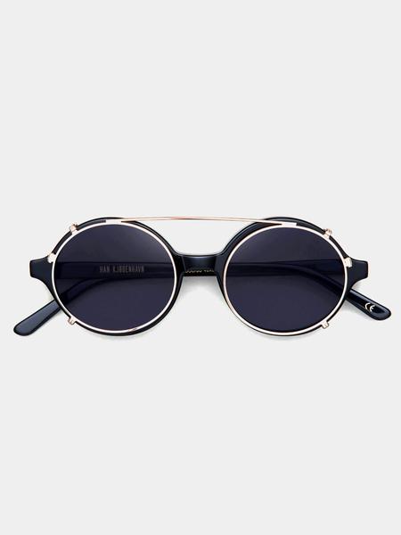 Unisex Han Kjøbenhavn Doc Clip-On Sunglasses - Black