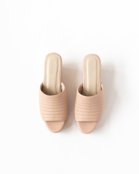 Beklina Ribbed Open Toe Clog - Nude