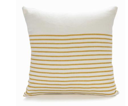 Sugar Feather 3/4 Stripe Pillow - Ochre